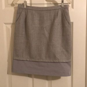 BCBG Max Azria gorgeous grey wool skirt